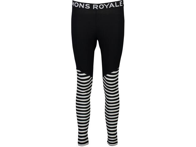 Mons Royale W's Christy Leggings Black/Thick Stripe